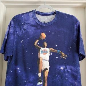 Jordan Shirts - Space Jam Size M 20th Anniversary Galaxy T Shirt